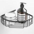 HSBT-10P  黑烤漆304不銹鋼浴室牆角網籃